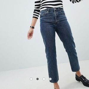 Asos Jeans Straight Leg Deep Blue Wash, Size 26